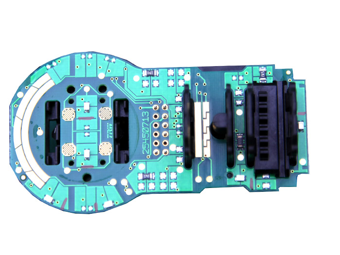 Remove the circuit board and the clear plastic light runner